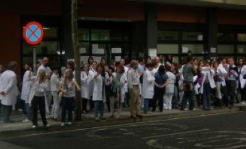 Treballadors de la sanitat pública es manifesten contra les retallades