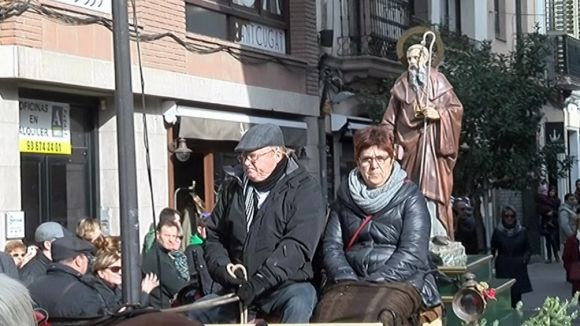 La imatge de Sant Antoni Abat durant la rua