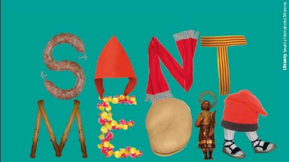 Els Bastoners, banderers d'un Sant Medir amb mercat tradicional