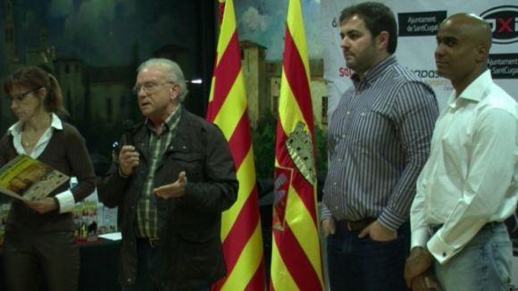 Domingo López, a l'esquerra, amb Eloi Rovira, al mig