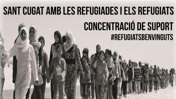 La CUP, ERC, ICV, PC i Podem organitzen una concentració de suport als refugiats
