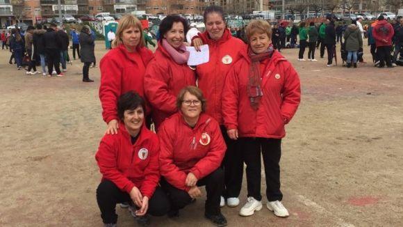 L'equip femení del Club Petanca Sant Cugat disputarà la fase final del Campionat de Catalunya