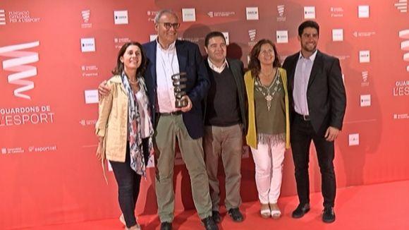 Els membres de SantCugatCreix que han assitit a la gala