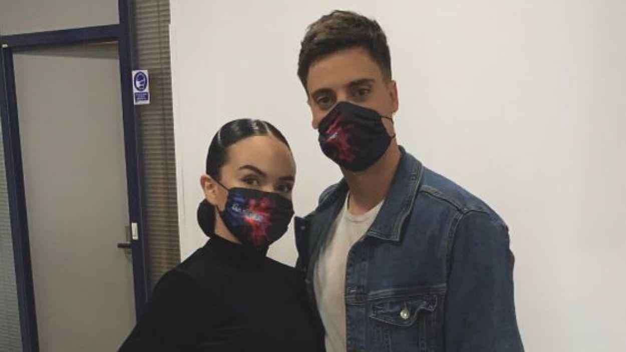Sara Orriols conjuntament amb Aleix Civico a una de les proves de 'The Dancer' / Foto: Cedida