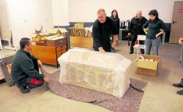 El sarcòfag del bisbe Sant Ermengol arriba a Valldoreix per ser restaurat