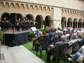 Record a la figura de Francesc Ribas en un concert de sardanes avui al Monestir