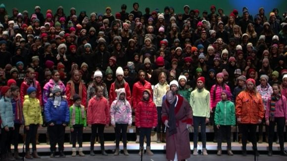 'Un Nadal amb Mr.Scrooge' omple el Teatre-Auditori en la seva edició més multitudinària