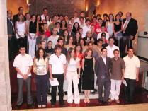 Amàlia Monge i la resta de 63 joves distingits per la Generalitat.