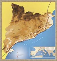 Aquest és el traçat de l'antiga via romana a Catalunya