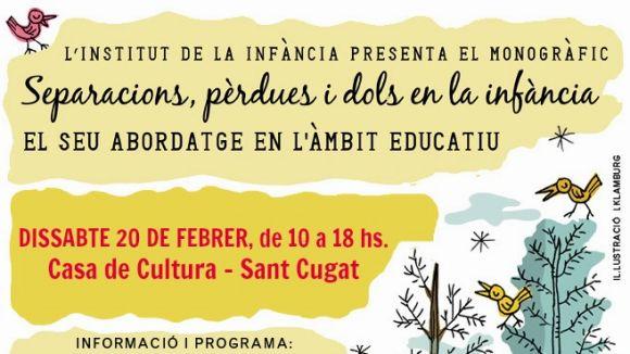 El cartell del seminari / Font: Institut de la Infància