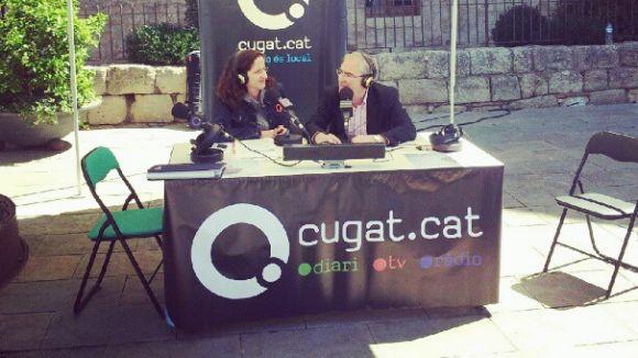 Moment del programa especial amb Sílvia González a la Plaça d'Octavià.