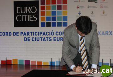 Avancen les negociacions perquè Sant Cugat i 10 ciutats més entrin a l'Eurocities