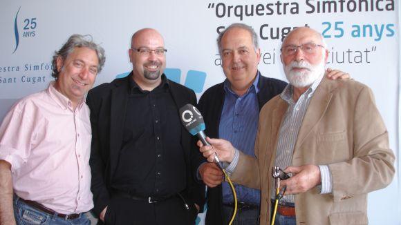 Els músics Josep Ferré, Matthew Simon i David Bozzo passen pel 'Molta Comèdia'