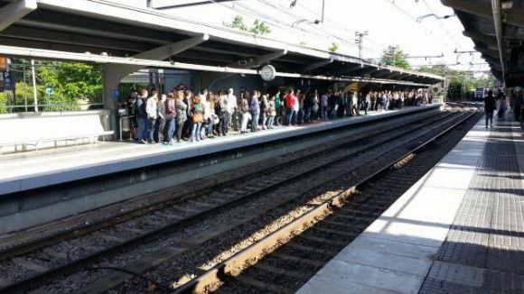 FGC desenvolupa un simulacre d'evacuació a l'estació de Sant Cugat
