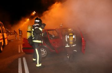 Gairebé 300 persones participen en un simulacre d'accident al túnel de Vallvidrera