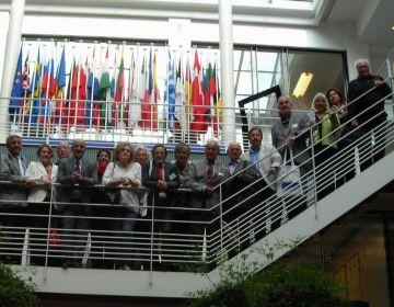 Fotografia dels síndics en el seu viatge a Brussel·les