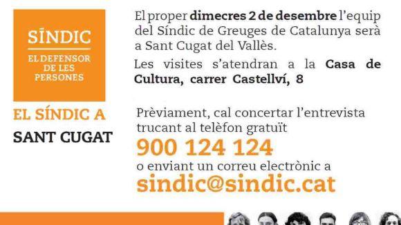 L'equip del Síndic de Greuges de Catalunya, aquest dimecres a Sant Cugat
