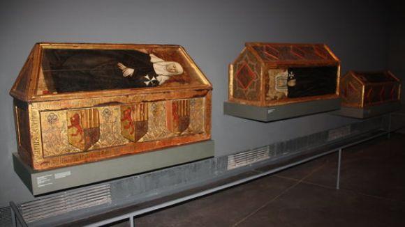Els sepulcres del monestir de Sixena es troben exposats al Museu de Lleida / Foto: ACN