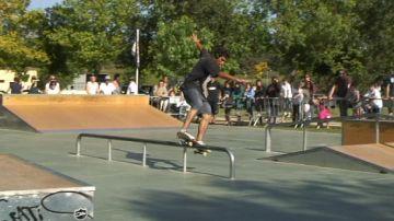 Inauguració de luxe per a l''skatepark'