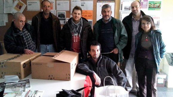 Treballadors d'HP i Delphi se solidaritzen amb la PAH de Badia
