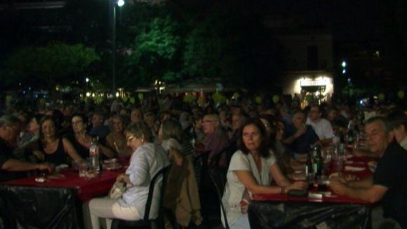 Un sopar de la campanya 'Ara és l'hora' reuneix més de 400 santcugatencs