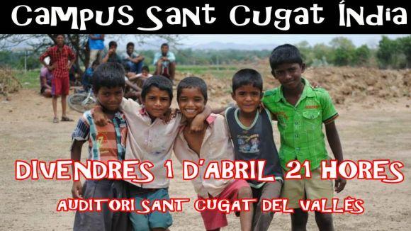 Els clubs del Campus Sant Cugat Índia organitzen un sopar benèfic l'1 d'abril al Teatre-Auditori