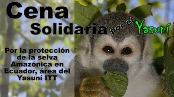 Un sopar solidari denunciarà la situació Yasunní ITT, a l'Equador