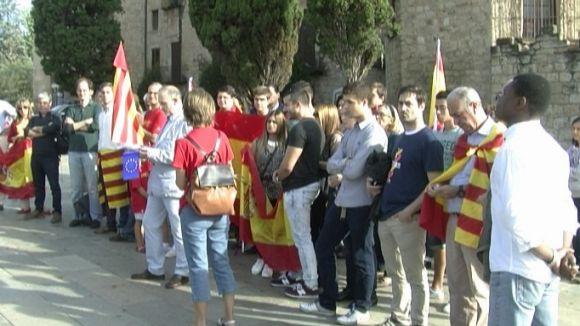 Unes 40 persones, a la concentració de SCC contra la independència