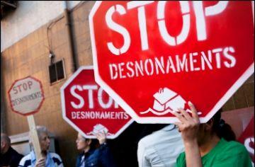 Una protesta en contra els desnonaments / Font: Xarxanet.org