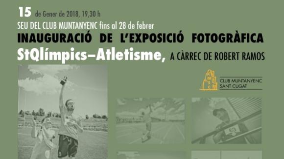 Inauguració de l'exposició fotogràfica 'StQlímpics-atletisme'