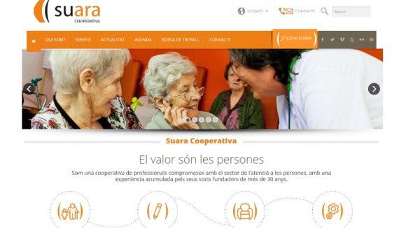 Detall de la web de Suara Serveis