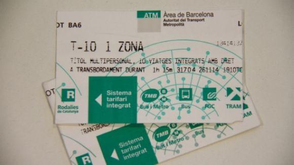 El tribut metropolità es deriva de la tarifa plana del transport aprovada per l'ATM / Foto: Cugat.cat