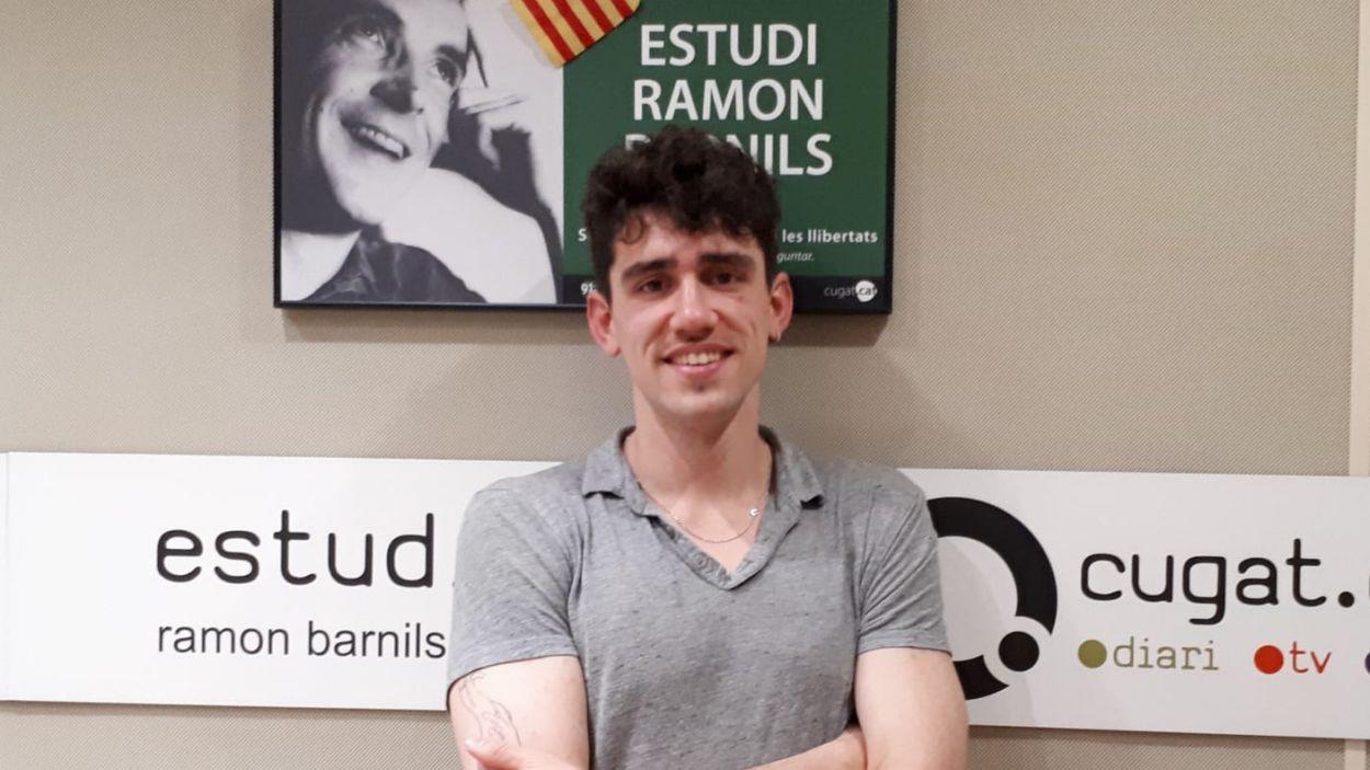 Tacho, als estudis de Ràdio Sant Cugat / Foto: Cugat Mèdia