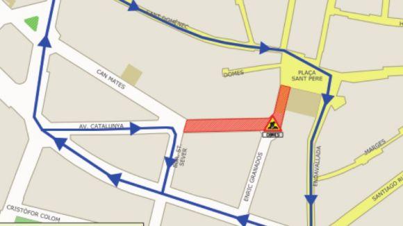 Mapa dels carrers afectats / Foto: Premsa Sant Cugat