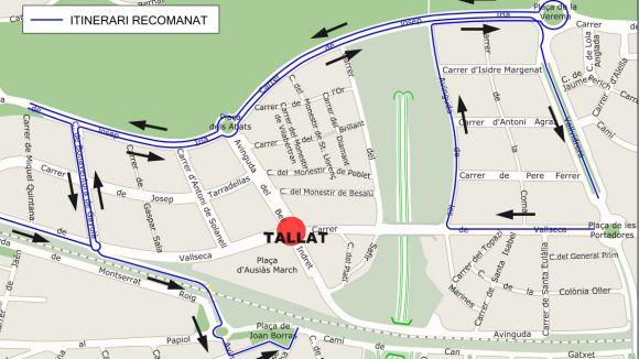 Tallat el trànsit a la cruïlla dels carrers de Vallseca i Bell Indret fins aquest divendres