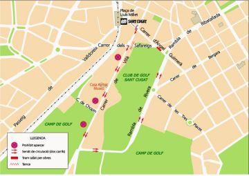 Actualitzacions del tall de trànsit al carrer d'Àngel Guimerà, el primer dimarts d'abril