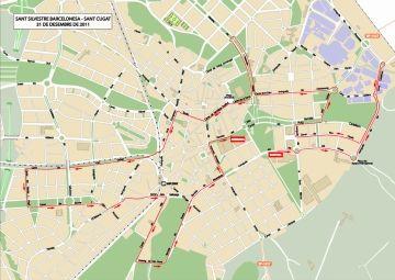 La Sant Silvestre obliga, una edició més, a fer modificacions puntuals en el trànsit