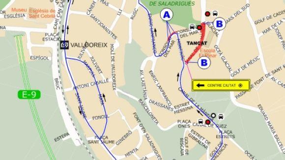 Talls de trànsit al carrer del Canal de la Mànega fins dimecres