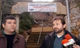 El PSC va convocar els mitjans de comunicació davant les Escales Tarruell de la Floresta