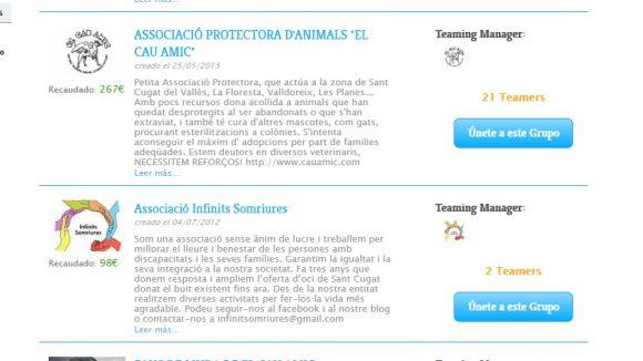 14 entitats socials de Sant Cugat busquen microdonacions d'un euro a Teaming