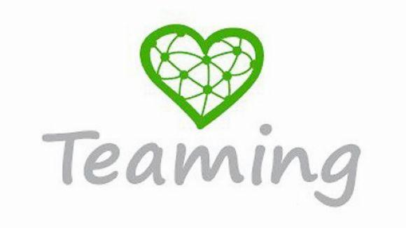 El logo de la plataforma de micromecenatge solidari Teaming