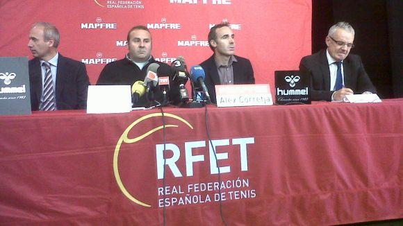 Àlex Corretja, al Club Tennis Natació Sant Cugat