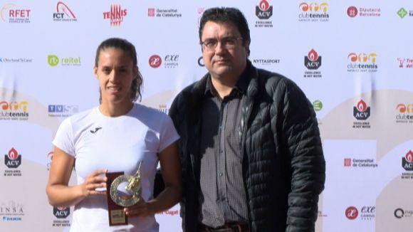 Olga Sáez s'imposa a la terra batuda de l'Open ITF- ACV Ciutat de Sant Cugat