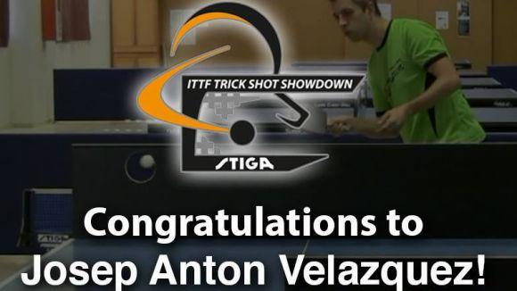 Josep Antón revalida el Mundial de cops espectaculars de tennis taula