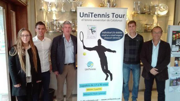 Presentació de la prova de l'UniTennis Tour que es disputarà al Natació Sant Cugat