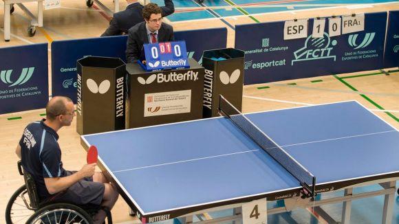El tennis taula adaptat serà protagonista al pavelló de la Guinardera / Font: Antonio Álvarez