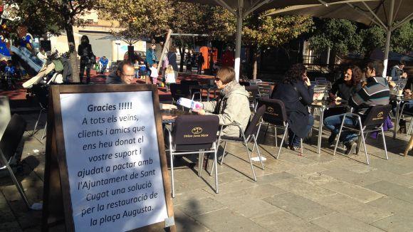 Acord per a una ordenació menys restrictiva de terrasses a la plaça d'Augusta