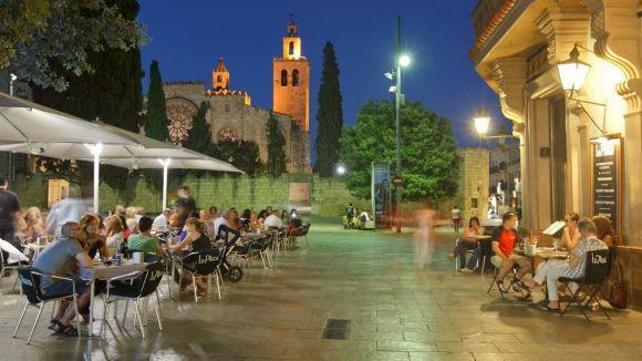 Terrasses de bar de la plaça d'Octavià / Foto: Ajuntament