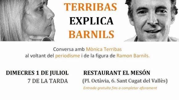 Mònica Terribas parlarà sobre periodisme i Ramon Barnils a El Mesón