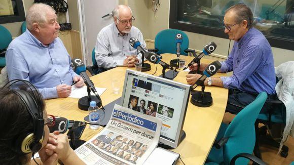 D'esquerra a dreta, Pasqual d'Ossó, Domènec Miquel i Josep Maria Balcells